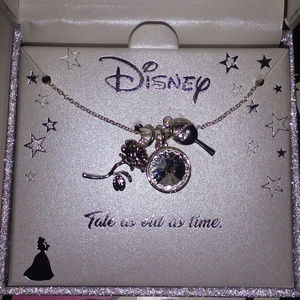 DISNEY BEAUTY & THE BEAST 3 CHARMS NECKLACE**NEW!!